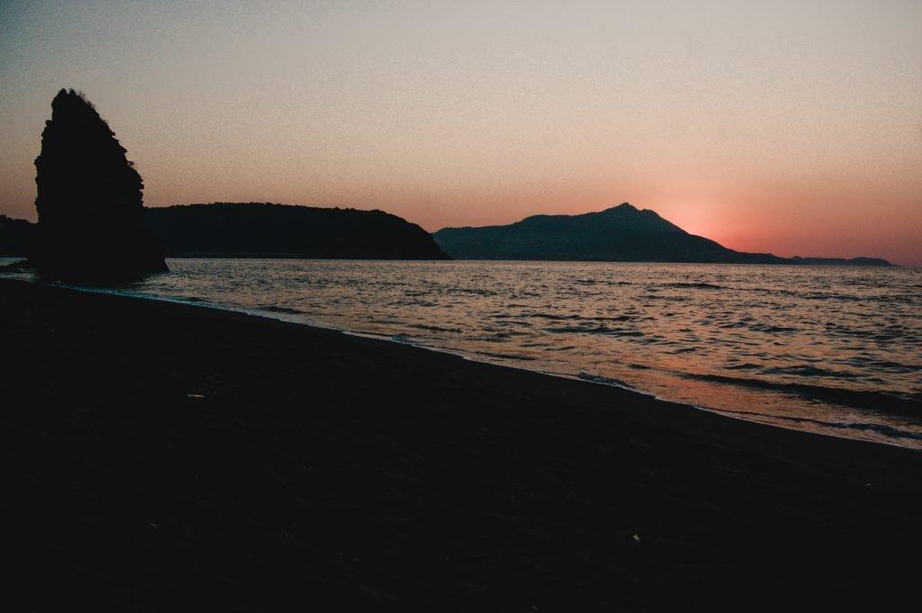 Tramonto dalla spiaggia della Chiaiolella