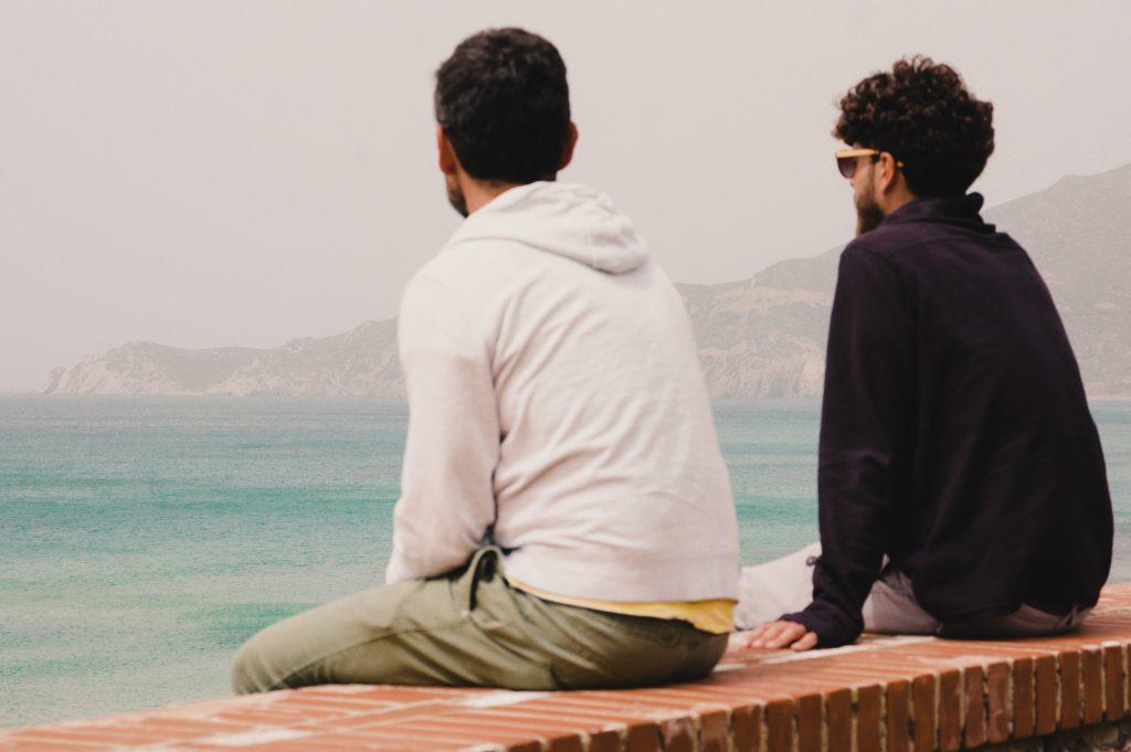 Sardegna - L'attesa della mareggiata in Costa Ovest